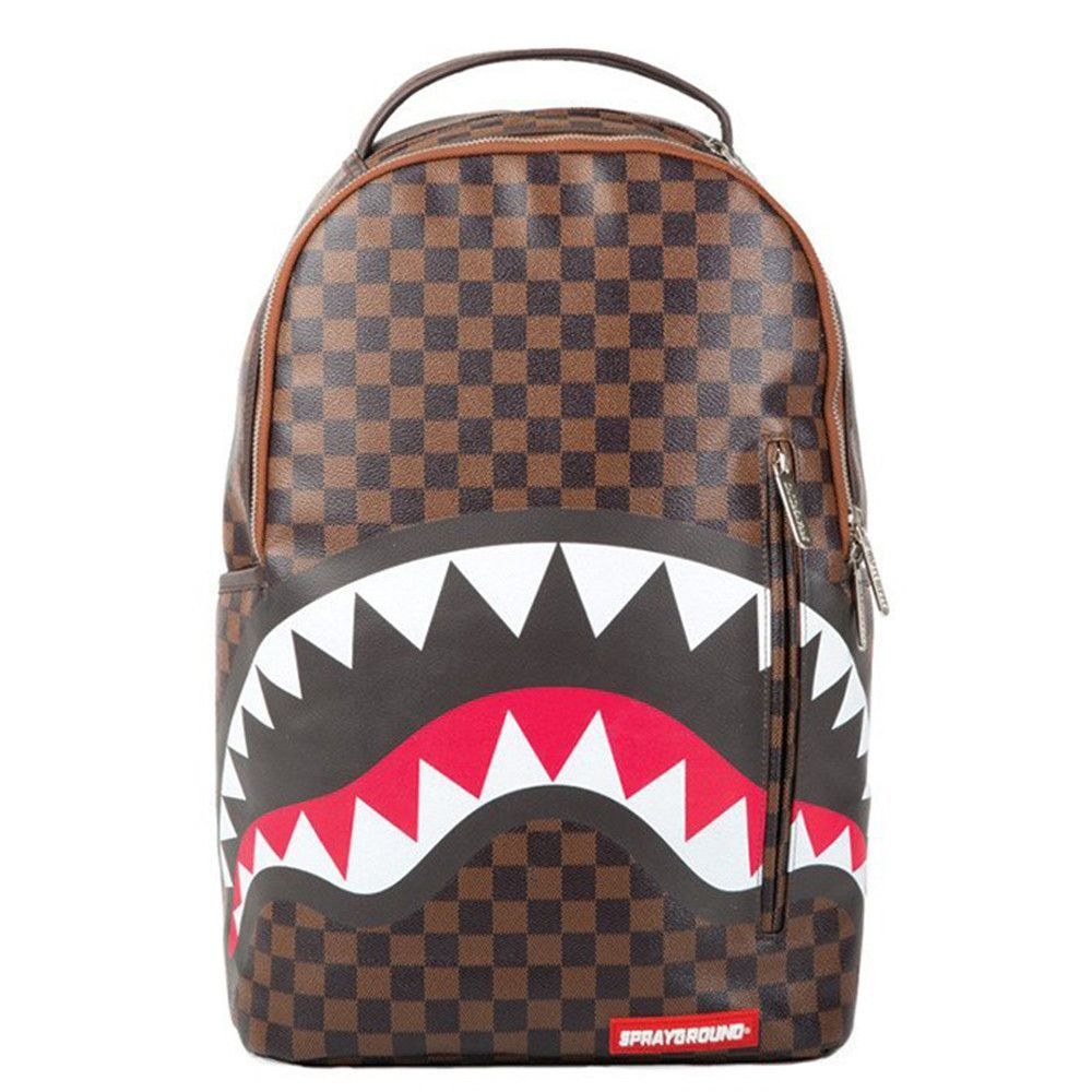 Bape Shark Backpack >> Sprayground Sharks In Paris Backpack Brown Stuff I Want