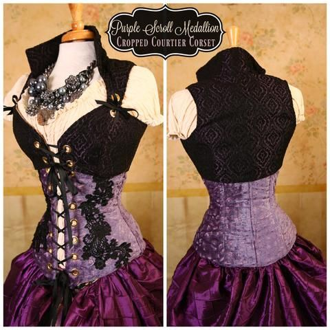 peacock pirate coat without sleeves  corset vest