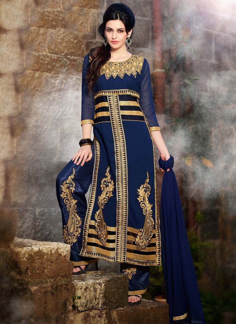 Designer plazzo straight salwar suits for ethnic collection d
