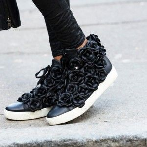5946515e031d chanel  camellia  rose  sneakers   DETAIL  Coming Up Roses   Shoes ...