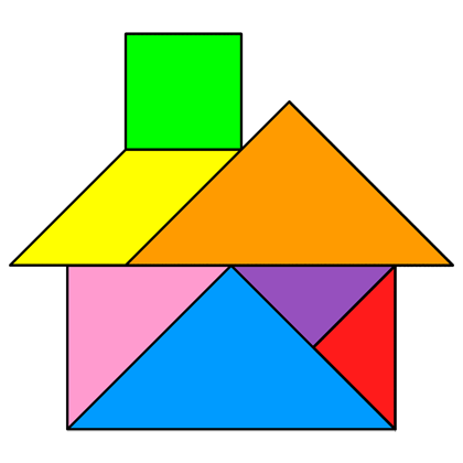 Tangram House Tangram Solution 20 Providing Teachers And