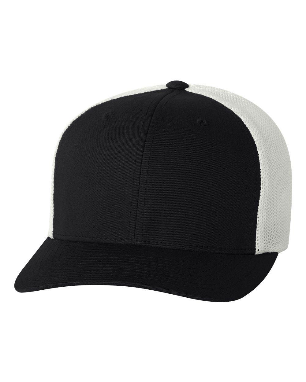 27d8392e1657f Flexfit - Trucker Cap - 6511 Black  white