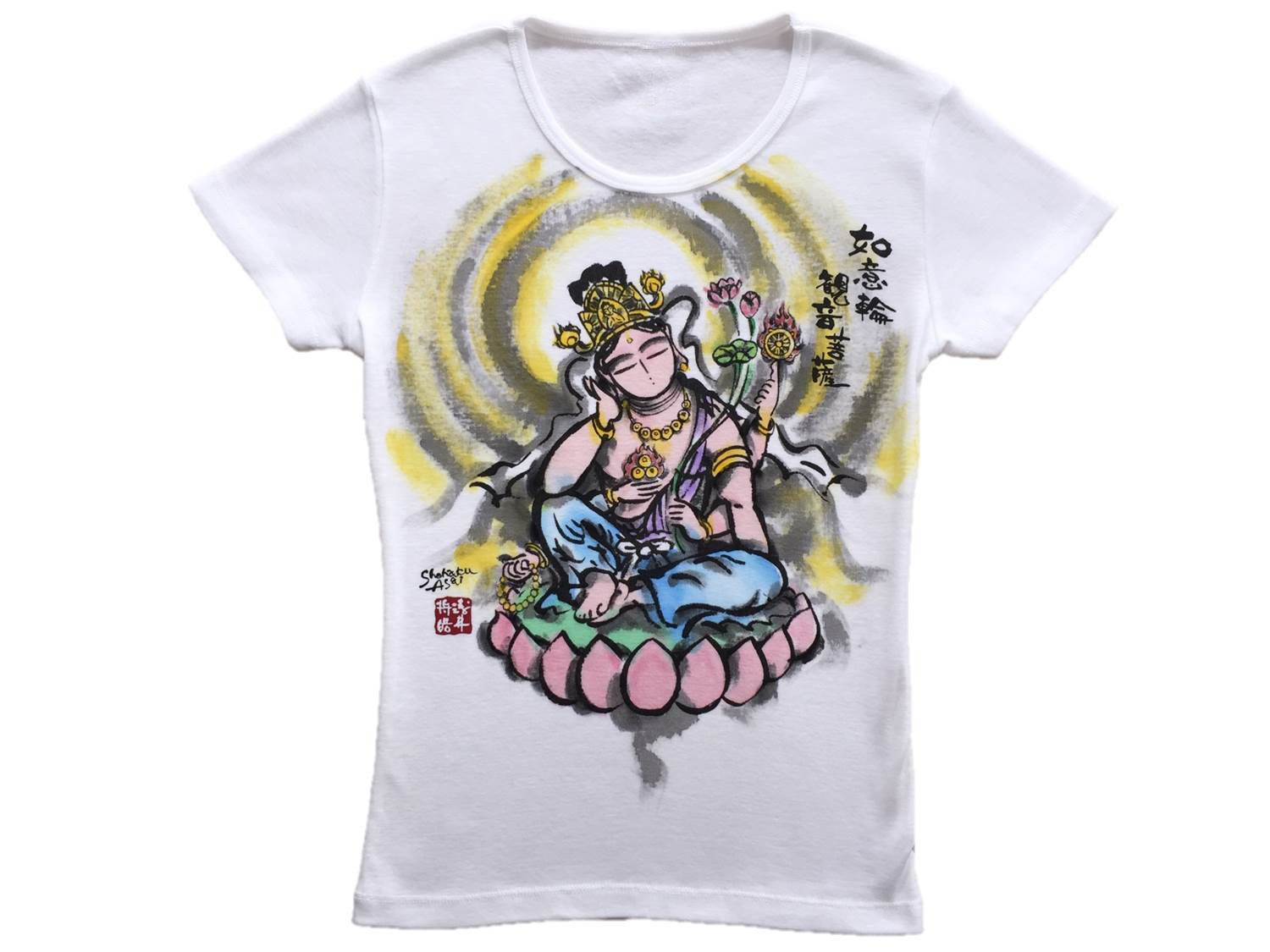 Color in japanese art - T Shirts Ladies Nyoirin Kannon Color Japanese Art Our Buddhist Art