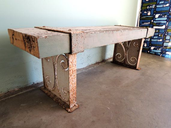 industrial rustic garden bench los angeles by housecandyla on etsy