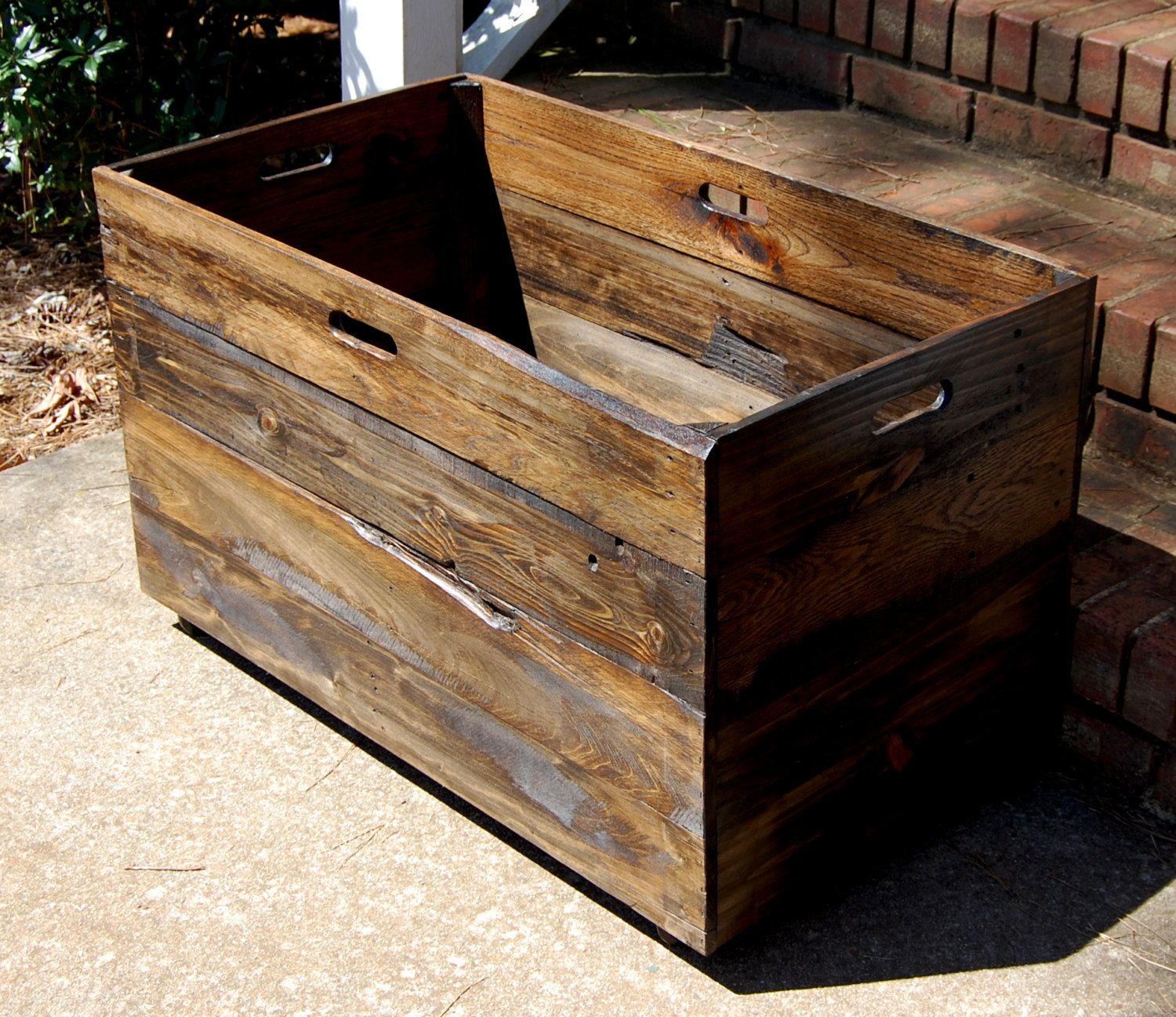 Popular Items For Large Wood Crate On Etsy Wooden Toy Chest Wooden Crate Wooden Storage Boxes