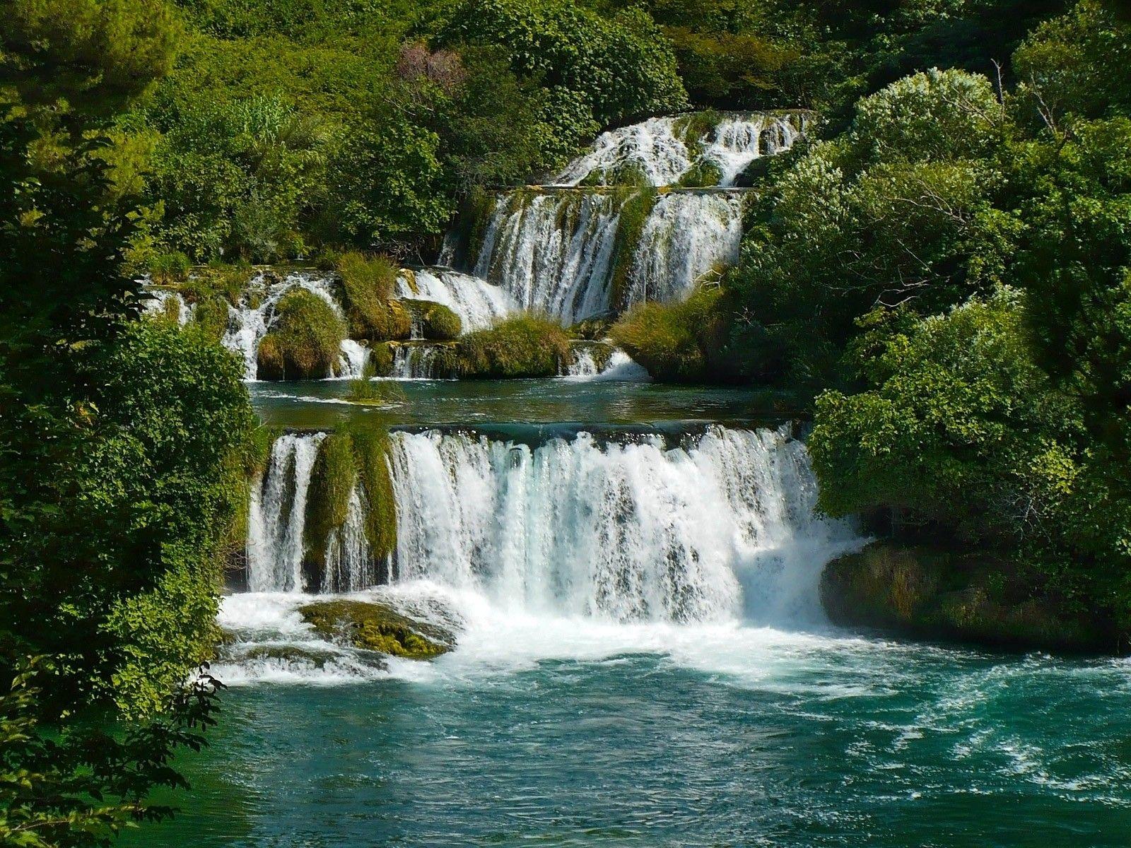Landscapes Nature Waterfalls Fresh New HD Wallpaper Best