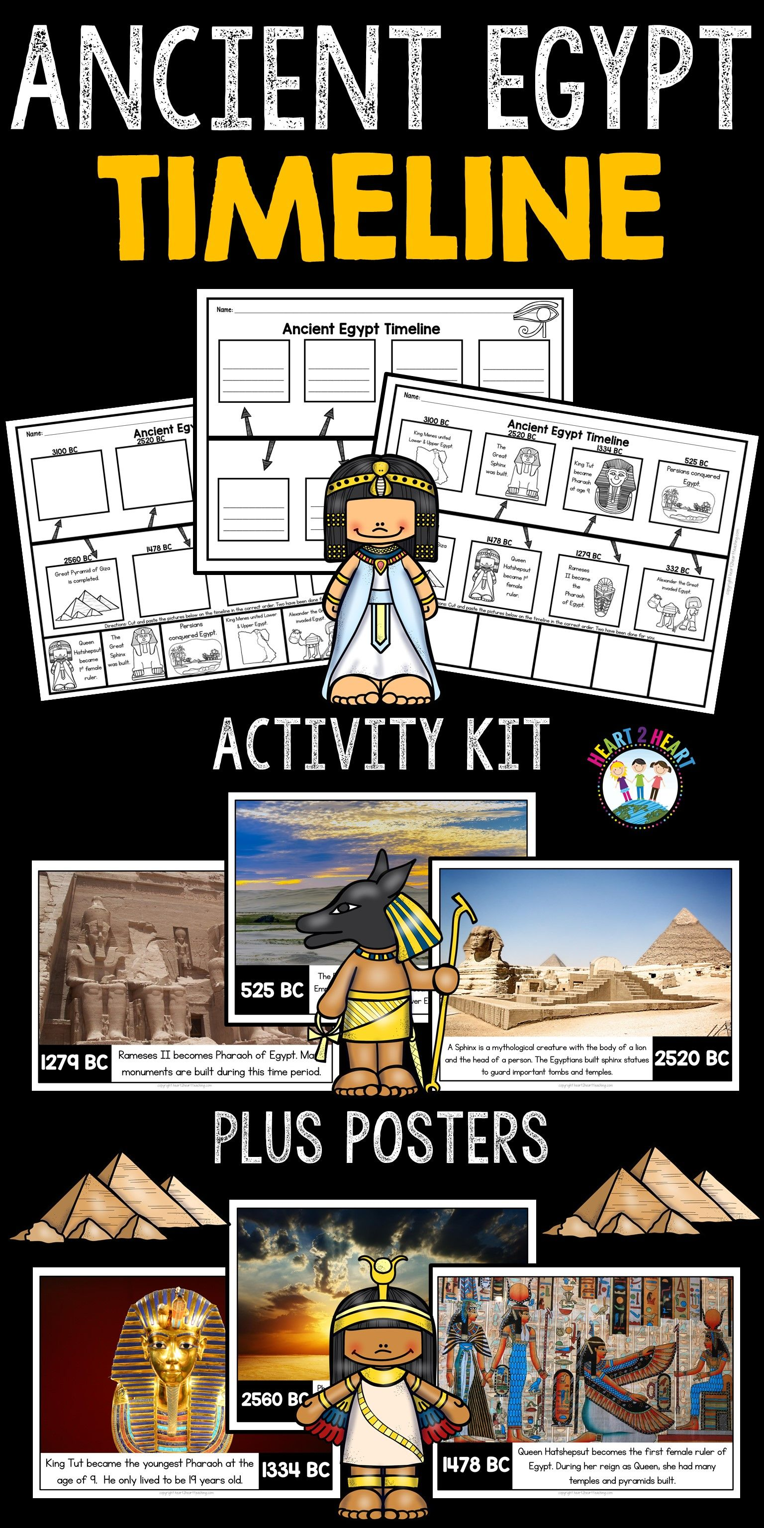 Ancient Egypt Timeline And Bulletin Board Kit