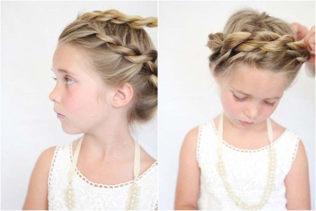 twisted crown tutorial for little girls