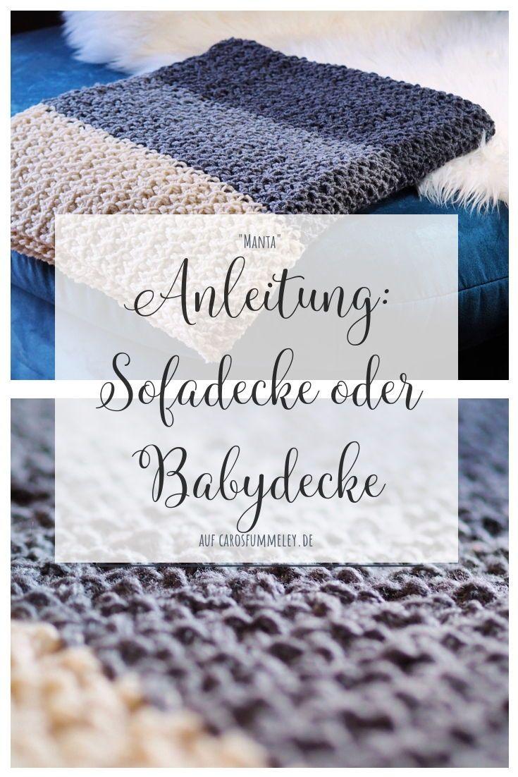 """Photo of Decke stricken – """"Manta"""" aus regionaler Wolle – Caros Fummeley"""