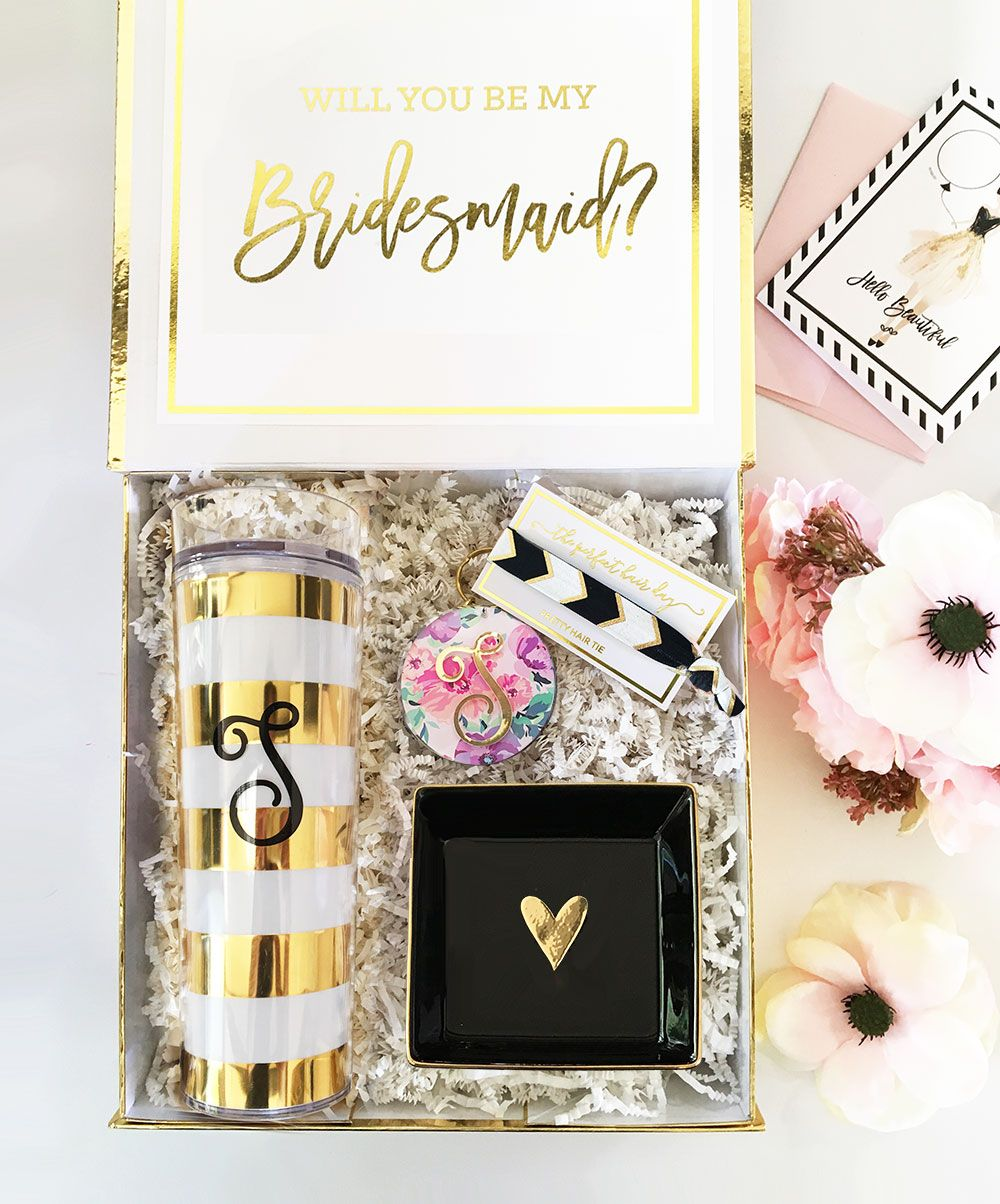 Monogram Tumbler Personalized Gifts For Bridesmaid Bridal Party Gift Ideas Proposal Box