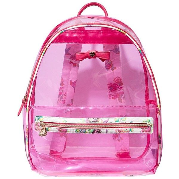 Betsey Johnson Back to School Clear as Can BE Backpack ( 60) ❤ liked on  Polyvore featuring bags 3258495a55295