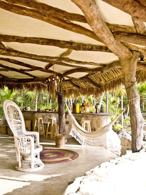 Caba a r stica de vacaciones en la costa mexicana for Modelos de cabanas rusticas