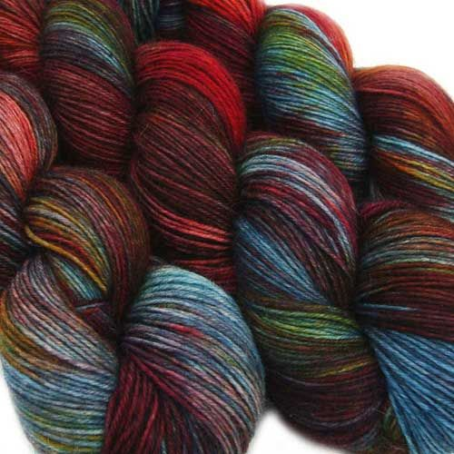 Detailed information about our yarn bases can be found here.* Basic BFL Sock: 75/25 sw bfl/nylon, 425m/100g.* Basic Sock: 75/25 sw wool/nylon, 420m/100g.* Basic Sport: 75/25 sw wool/nylon, 280m/100g.* BFL Sock Twist: 80/20 sw bfl/nylon, high twist yarn, 365m/100g.* Glitter Sock: 70/25/5 sw merino/nylon/stellina glitter, 400m/100g.* MCN: 80/10/10 sw merino/cashmere/nylon, 400m/100g.* Merino DK Twist: 100% sw merino, high twist yarn, 230m/115g.* Merino Silk Twist: 80/20 sw merino/silk, high…