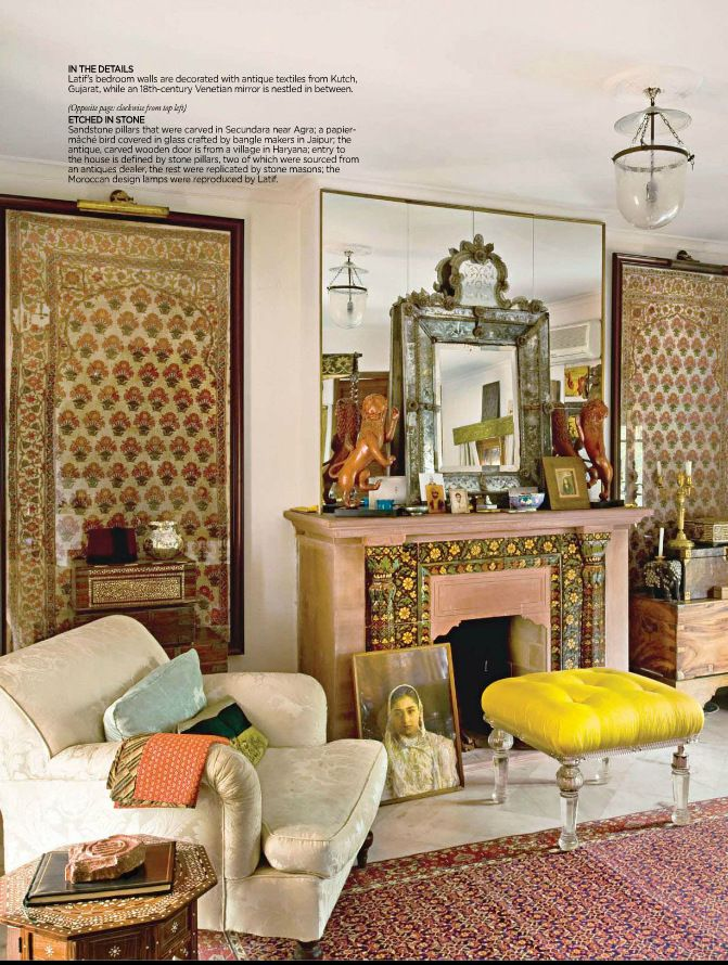 Modern indian style living room from architectural digest for Living room designs indian style