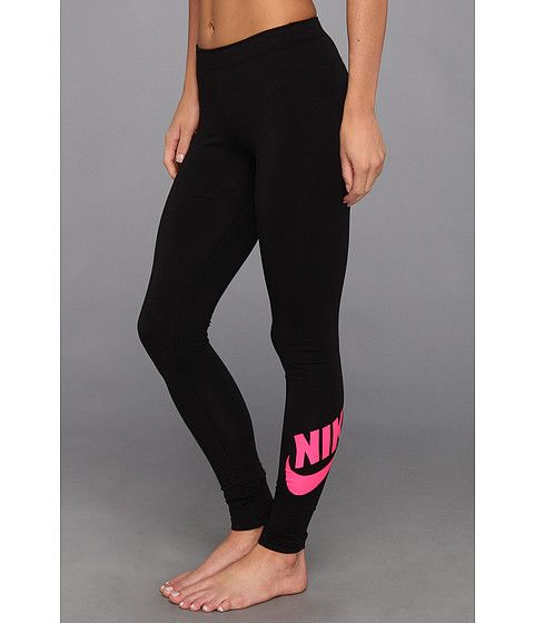 1448eed403881a Free shipping BOTH ways on nike leg a see logo legging black pink foil from  our vast selection of styles. Fast delivery, and 24/7/365 real-person  service ...