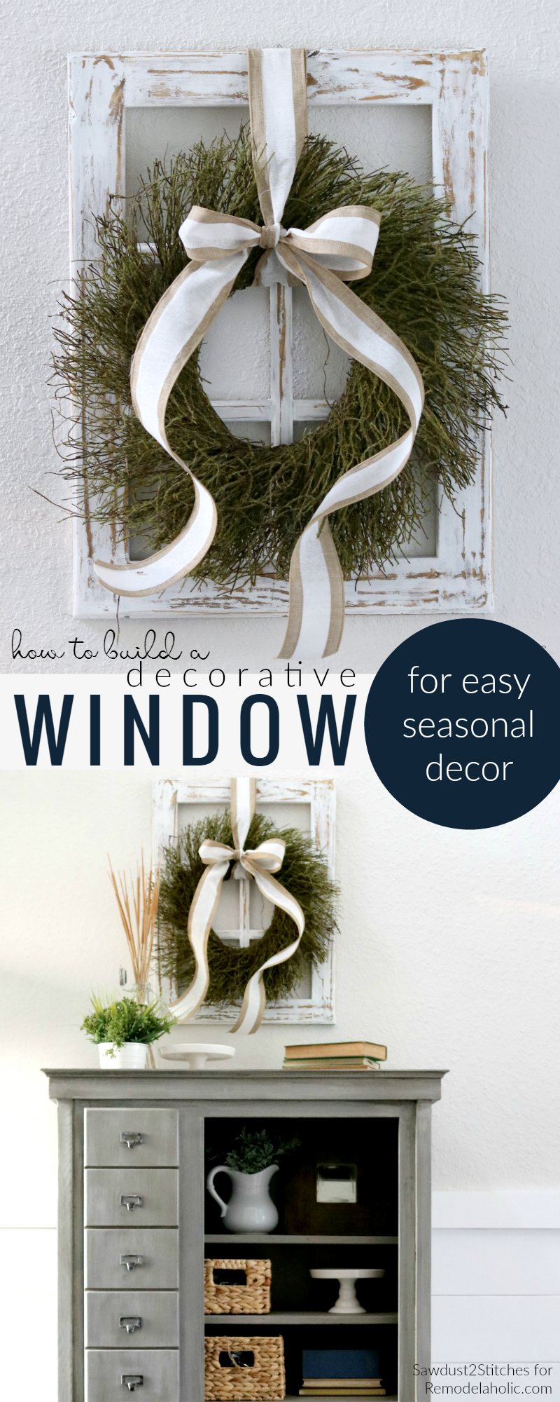 How To Build A Diy Decorative Window Frame From Just One Board For Eason Seasonal And Holiday Decor Remodelaholic
