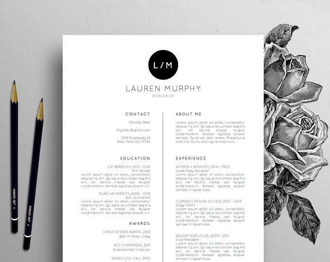 Professional Resume Template \/ CV Template Cover Letter for - professional resume and cover letter