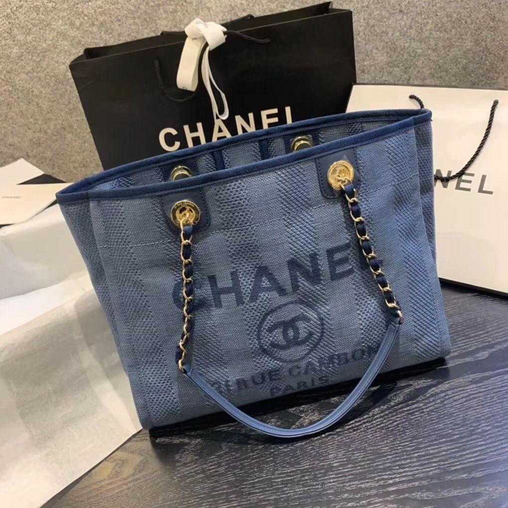 Chanel Small Size Beach Chain Shoulder Tote Bag In 2020 Chanel Bag Bags Shoulder Tote Bag