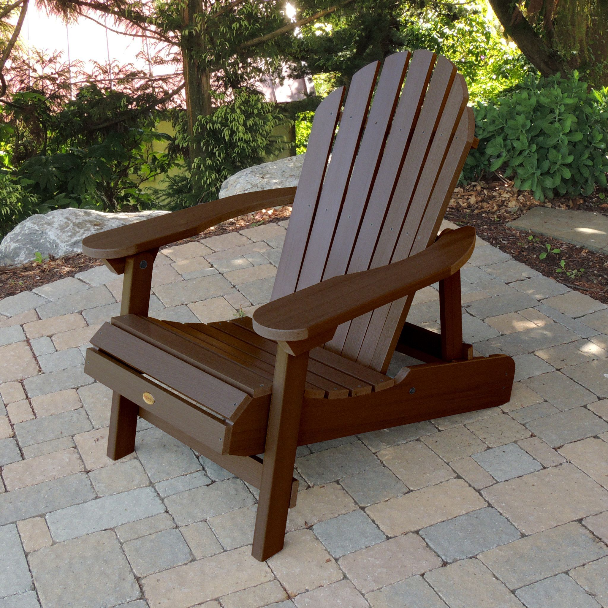 Highwood USA Curved Back Hamilton Folding & Reclining Adirondack Chair