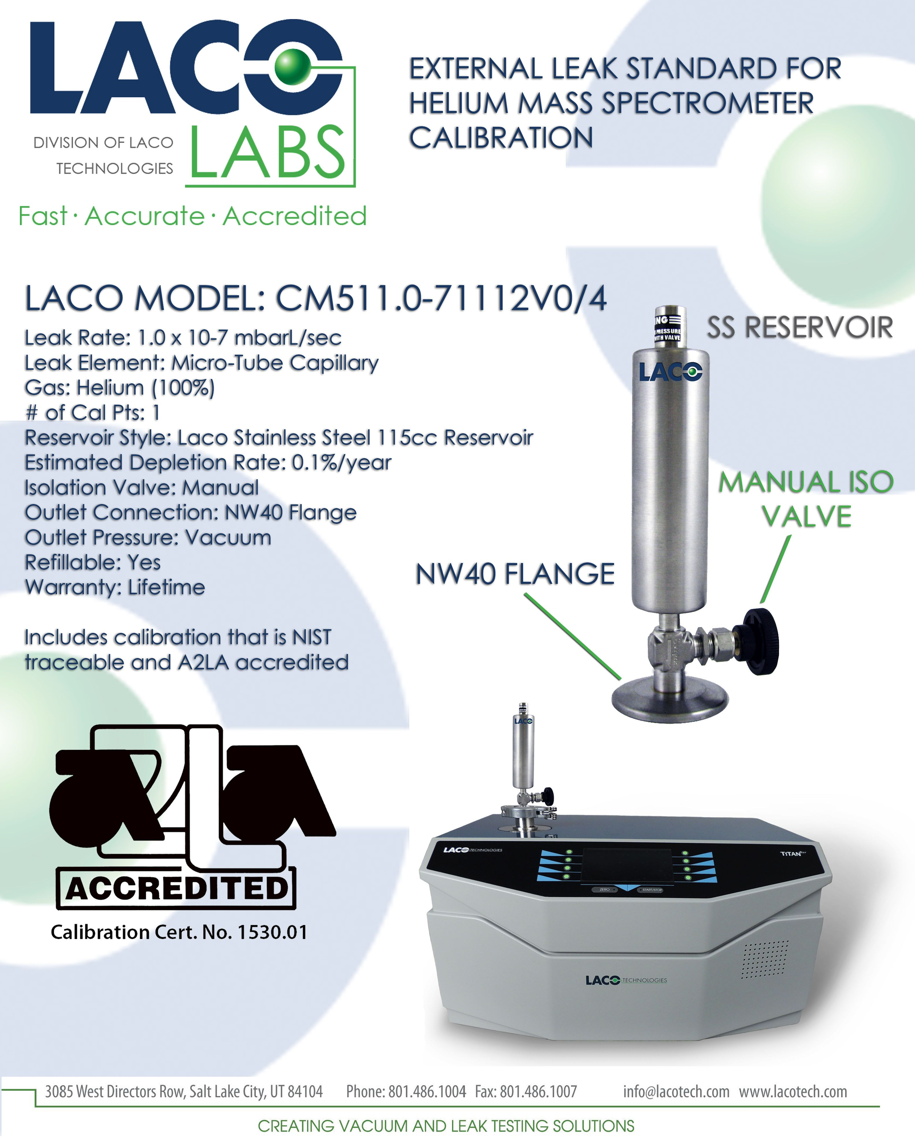 Check out our standard helium calibrated leaks for