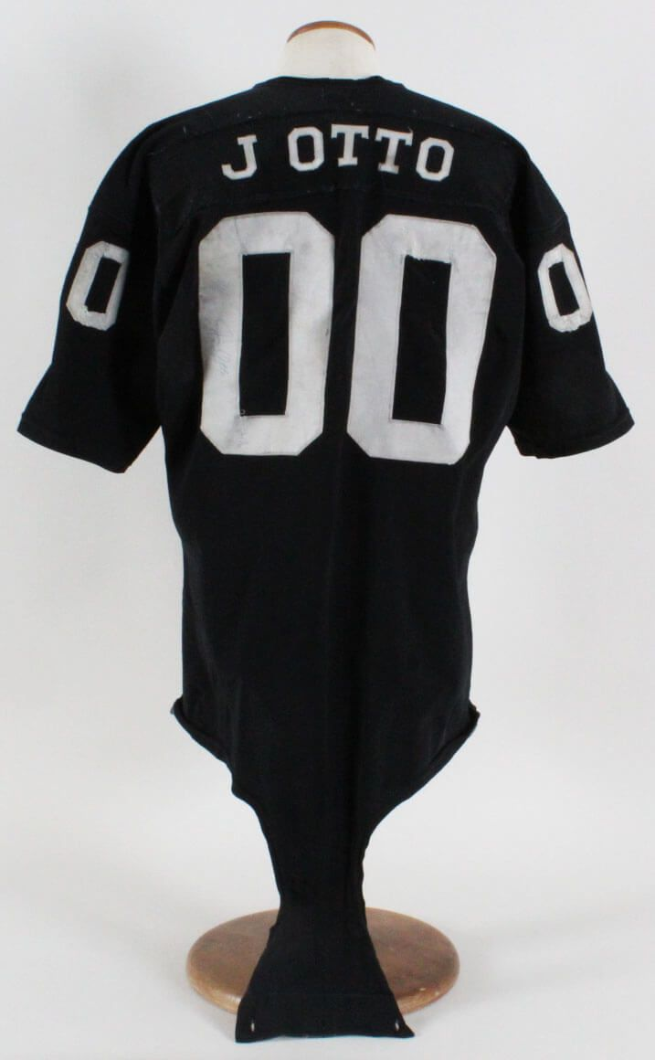 1969 71 Jim Otto Game Worn Raiders Jersey Durene, Signed GRADE: 20