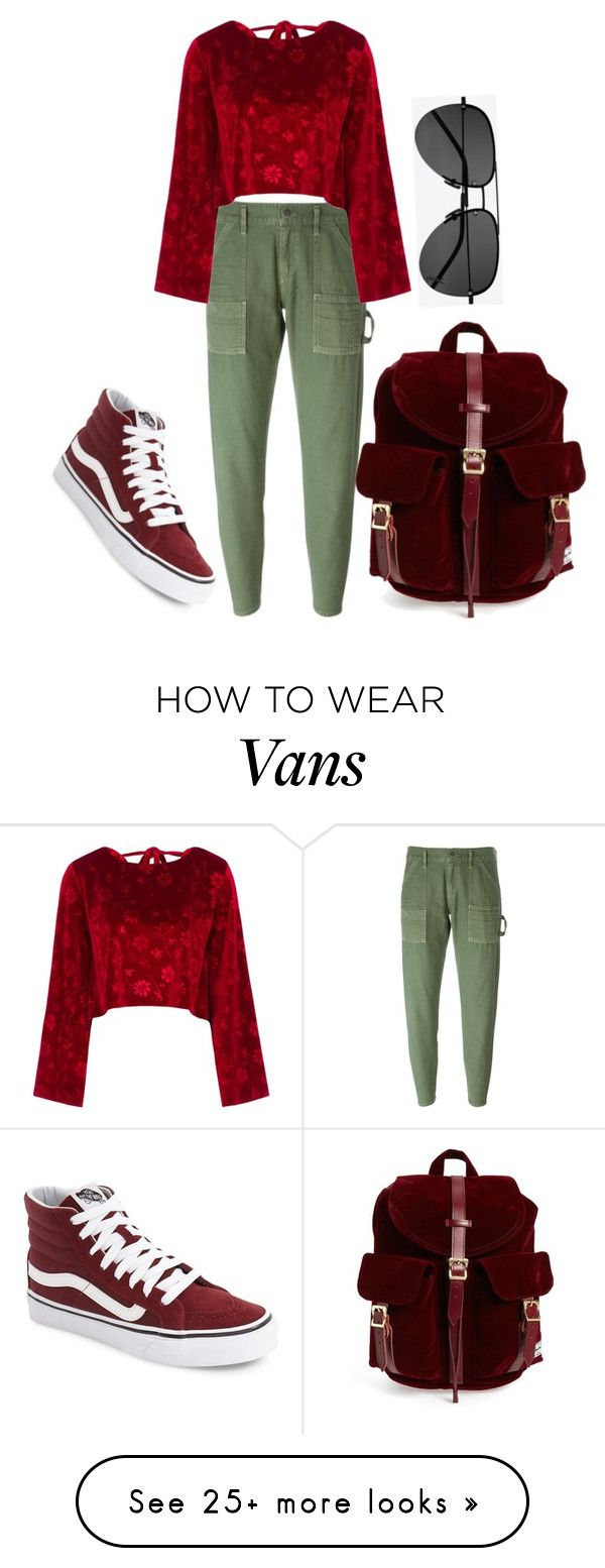 """R G"" by morningstaryasmine on Polyvore featuring Vans, Citizens of Humanity, Vjera Vilicnik, Herschel Supply Co. and Yves Saint Laurent"