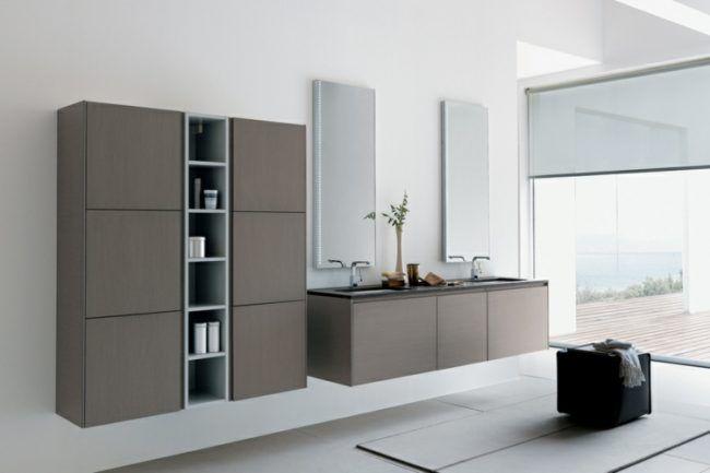 Modernes bad spiegel badezimmerschrank regale badschrank for Badezimmerschrank spiegel