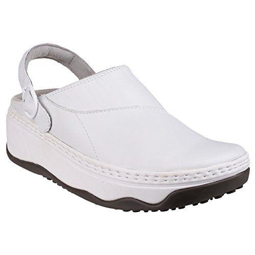 9bd869d70e62b1 Fitflop 119 Womens Gogh Pro Clog Shoes Review White Nursing Shoes