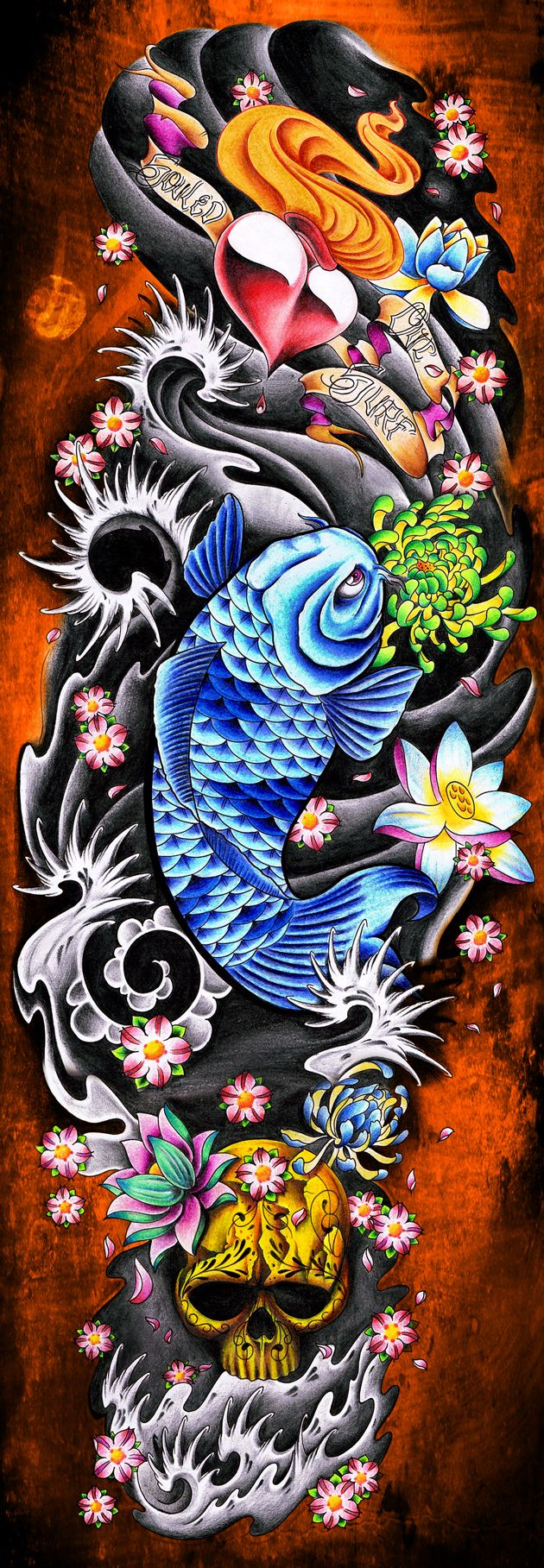 Surfboard Design Japanese Tattoo Art Japanese Sleeve Tattoos Boat Tattoo