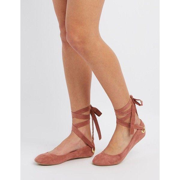Qupid Lace-Up Ballet Flats ($15