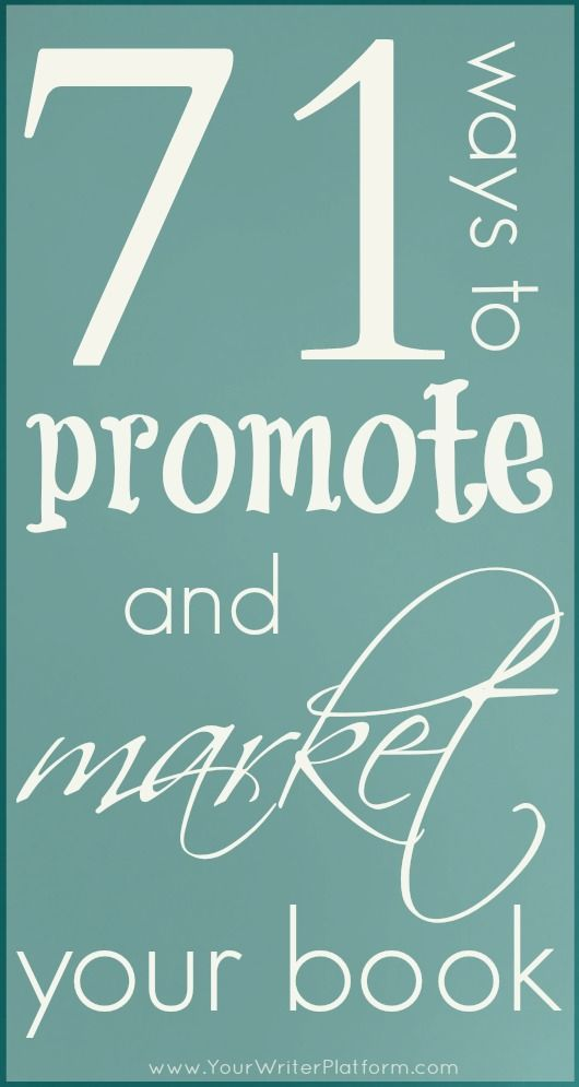 71 ways to promote and market your book promotion strategy 71 ways to promote and market your book fandeluxe Choice Image