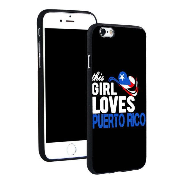 Puerto Rico Phone Ring Holder Soft TPU Silicon Case Cover for iPhone 4 4S 5C 5 SE 5S 6 6S 7 Plus