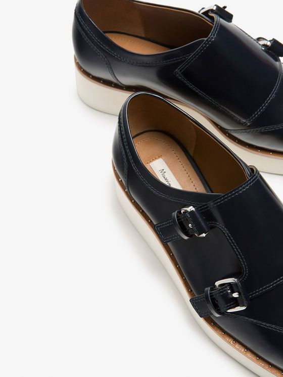 Autumn winter 2016 null´s BLUE ANTIK LEATHER MONK SHOES at Massimo Dutti for 149. Effortless elegance!