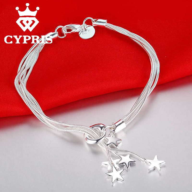 Cypris Best Ing Item Fashion Silver Plated Bracelet Charm Chain Whole Factory Price Women Cute Chic Fancy In Link Bracelets From