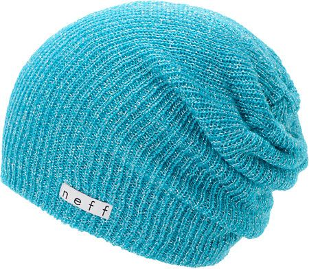 4f3cd85ed5c Neff Girls Daily Sparkle Cyan Beanie at Zumiez   PDP
