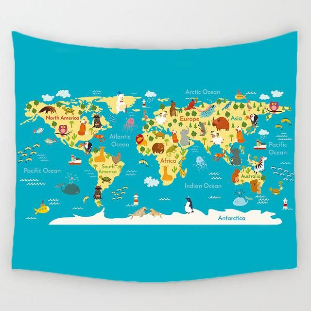The animal planet world map blanket fuel the fernweh products the animal planet world map blanket gumiabroncs Images