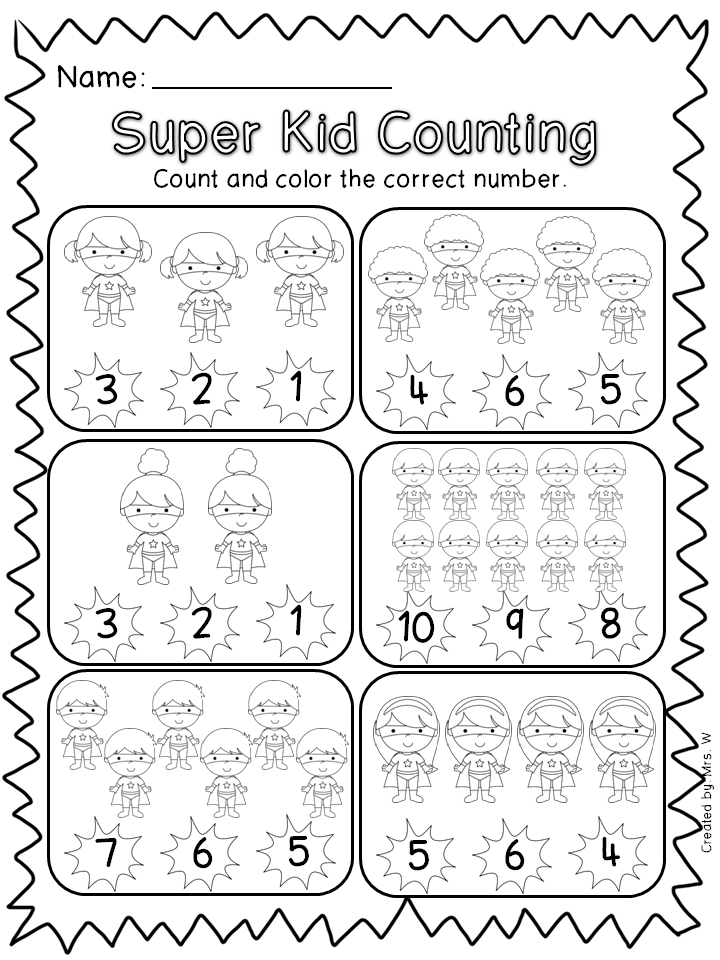 Superhero Literacy And Math Education Kindergarten