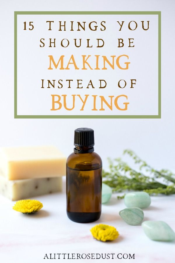 There are a few reasons I chose to make my own products. First, store bought cleaners and beauty products can be super pricey. Second, they usually com wrapped in plastic or some other single use packaging. Third, they're packed full of extremely harmful chemicals!  By making my own products I get to control the ingredients, save money and cut back waste. I want to help you do that too! So here are 15 things you should start making instead of buying! #nontoxic #zerowaste