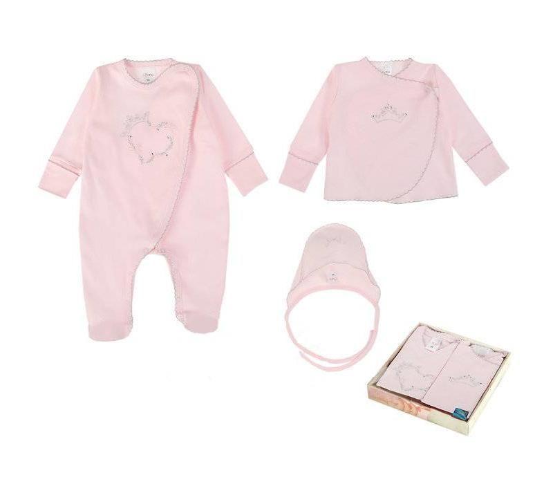 Babykleding Roze.3 Delige Babykleding Geschenkset Celeste Roze Baby Kleertjes