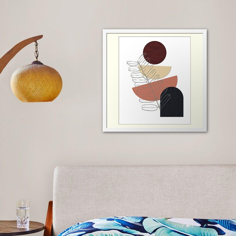 Modern minimalist art framed print by lahtifi in 2020
