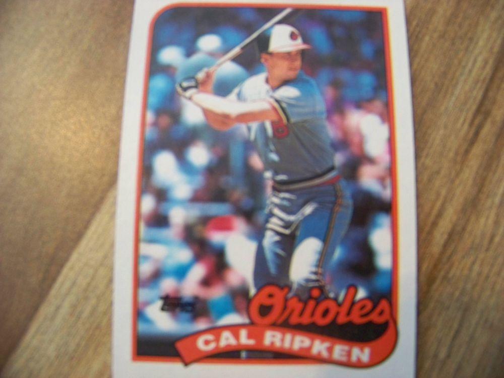 1989 topps cal ripken jr bb trading card 1988 baltimore