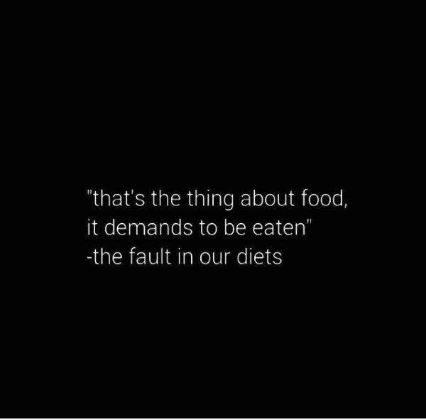 The fault in our diets
