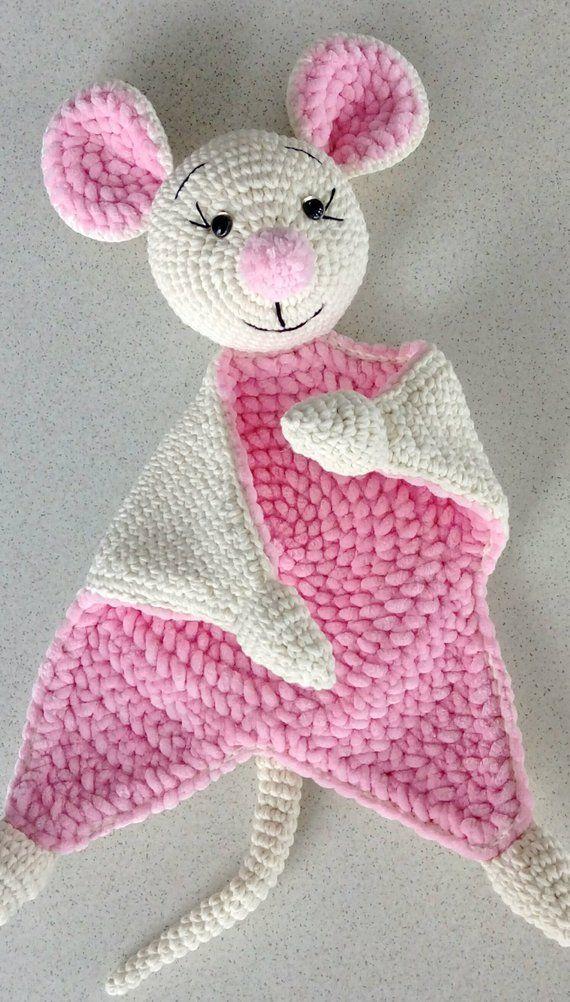 Kuscheln Sie und spielen Sie Maus häkeln Baby-Decke | Etsy #babyblanket
