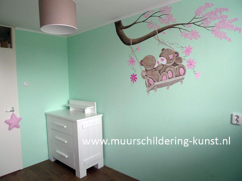 muurschildering babykamer | muurschildering babykamer | pinterest, Deco ideeën