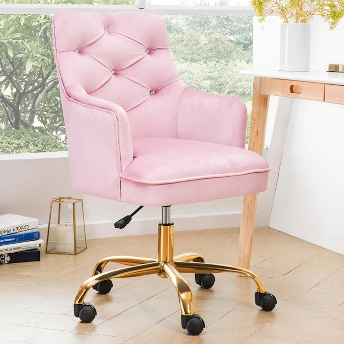 Pink Office Chair, Feminine Desk Chair