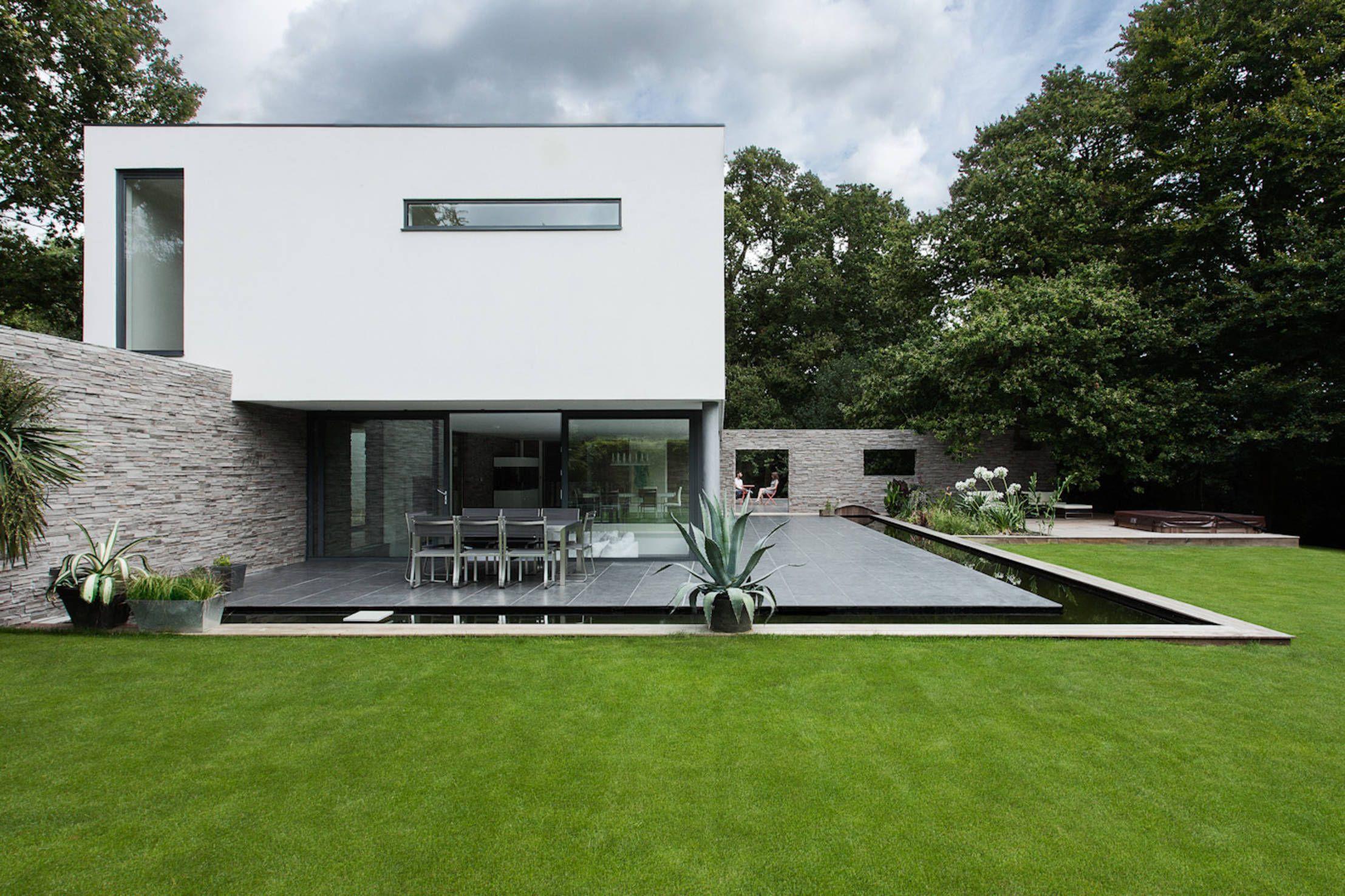Wohntraum für Puristen | Pinterest | Häuschen, Architektur und Flachdach