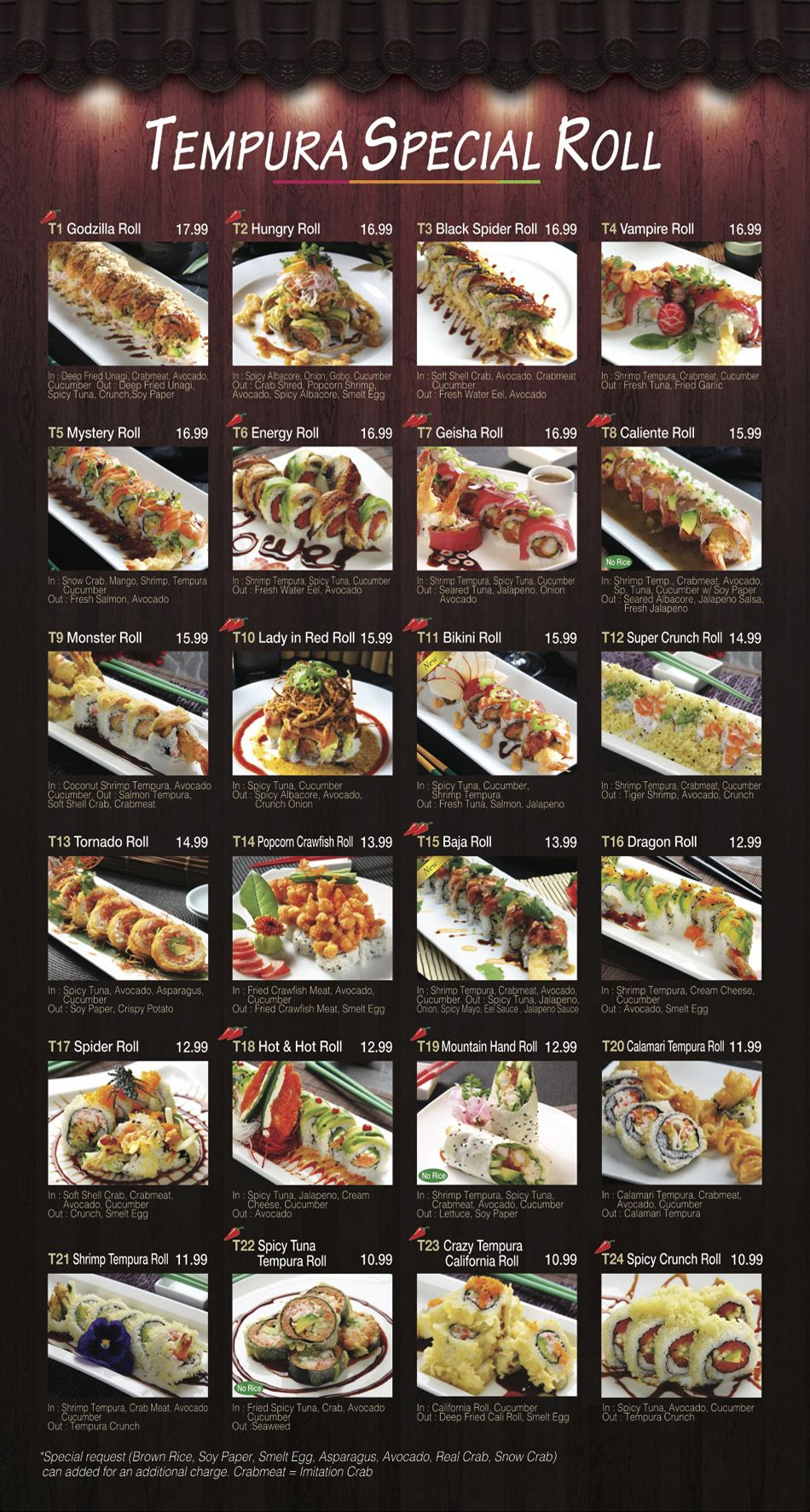 Fusion Sushi Inspiration! Even more on website! Menu for Fusion ...