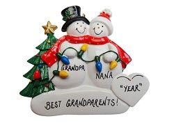 Personalized Ornament Grandparents by Christmas Tree