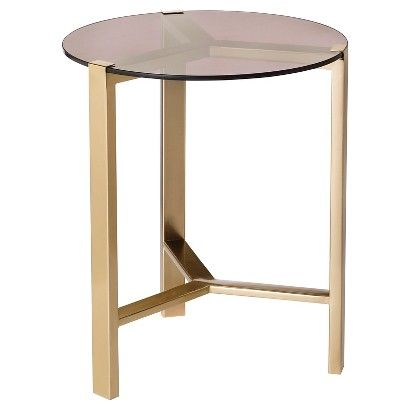 Nate Berkus Gold Accent Table With Glass Top Treehouse Gold Accent Table Living Room Accessories