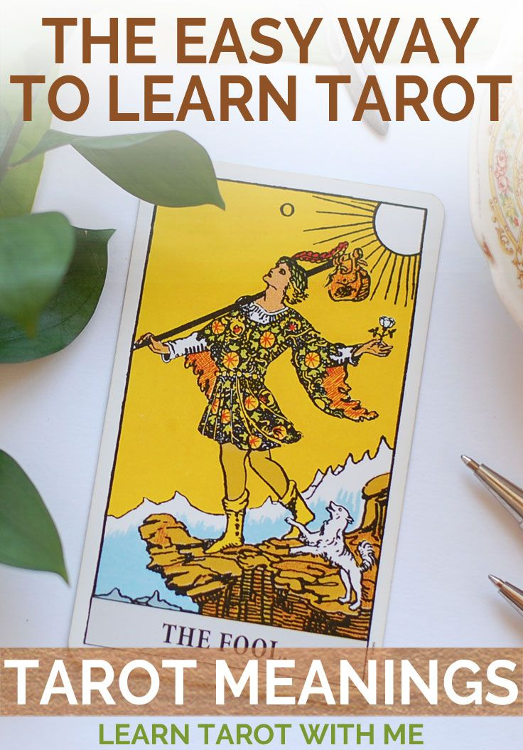 Learn the tarot card meanings the easy way - with creative DIY tarot resources from Learn Tarot With Me.